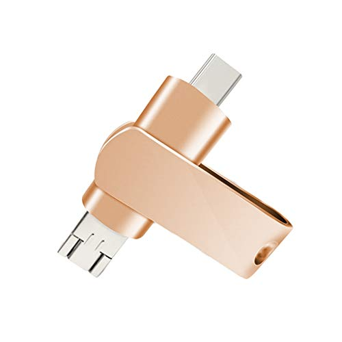 USB-stick 3.0, hoge snelheid, Rotary drie in een multifunctioneel type C + micro + USB-stick voor Android Phone 64 GB