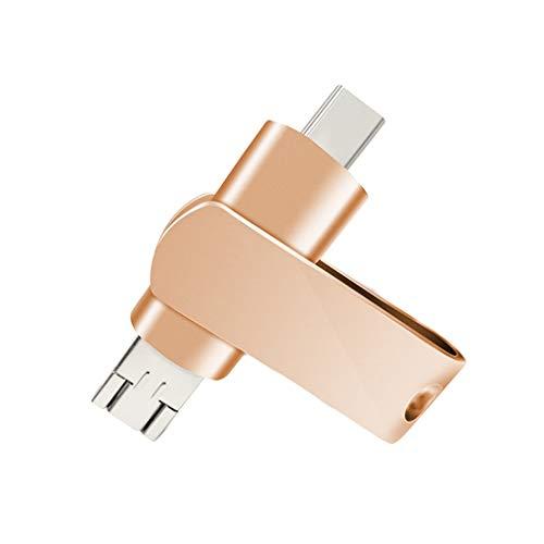 USB-stick 3.0, hoge snelheid, Rotary drie in een multifunctioneel type C + micro + USB-stick voor Android Phone 64 GB