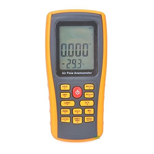 Medidores de velocidad del viento Tacómetro de anemómetro LCD digital con medición de velocidad de viento USB GM8902 Tester de flujo de aire Medidor de temperatura del aire Para medir la velocidad del