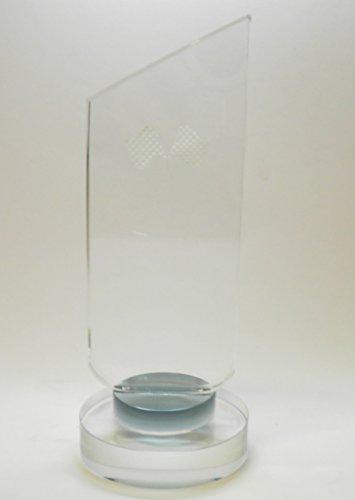 Personalizado trofeo de cristal de 6pulgadas Bandera de cuadros
