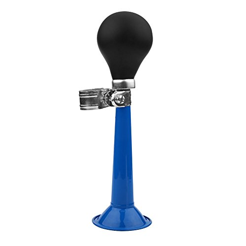 5 kleuren 2,2 inch fiets hooter, draagbare fiets luchthoorn bugle peer knijpen ring buitenbikes accessoires metalen bugle stuur bel (blauw) meervoudig stopcontact