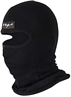 VEGA Microfibre Balaclava Reuseable Head/Face Protection Mask (Black, Without Valve, Pack of 1), Free Size