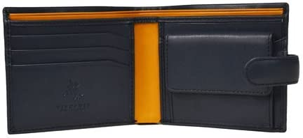 Visconti Parma PM-100 Mens Classic Bi-fold Coin Pouch Wallet