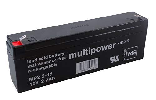 MultiPower Bleiakku MP2.2-12 12,0Volt 2.200mAh mit 4,8mm Steckanschlüssen