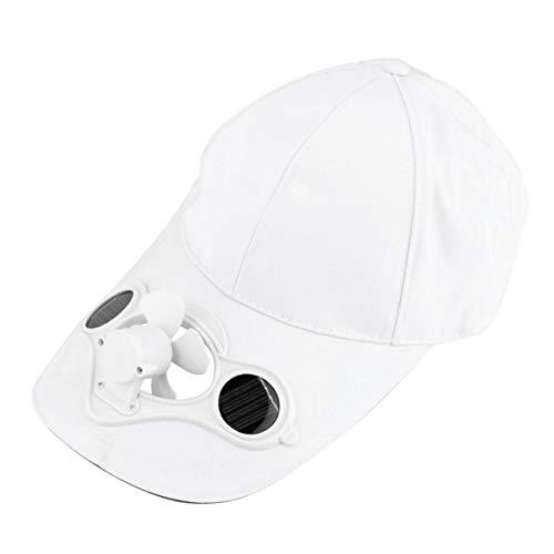 Sombrero de pesca para deportes de verano con energía solar, ventilador fresco para ciclismo, ahorro de energía, no necesita pilas
