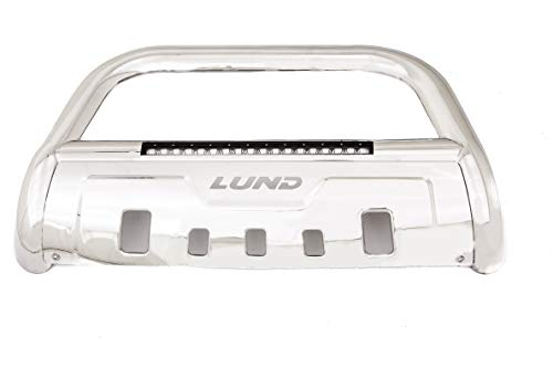 Lund 47021215 Bull Bar with Integrated LED Light Bar, Polished Stainless Steel...