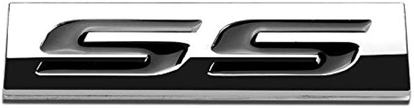 UrMarketOutlet SS Black/Chrome Aluminum Alloy Auto Trunk Door Fender Bumper Badge Decal Emblem Adhesive Tape Sticker