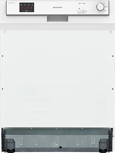 Sharp QW-HX12S47EW-DE Geschirrspüler Teilintegriert / 60 cm / E / 13 Maßgedecke / 3 Programme mit 50 min. Kurzprogramm / Weiß