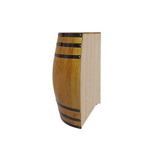 JIANGLI Decorativo Barril de Roble, colgado Fotografía Barril de Vino del Corte de la Mitad Pared del Barril de Cerveza de Barril Pared de la Barra de Boda Puntales-Hecho a Mano Estante del Vino