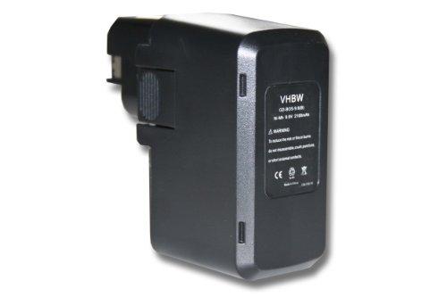 vhbw Akku 2000mAh kompatibel mit Werkzeug Bosch ABS 96 M-2, GBB 9.6VES-1, GBM 9.6 VSP-2, GDR 90, GLI 9.6V, GSB 9.6VES, GSR 9.6, PBM 9.6 VE-2, PDR 9.6 VE