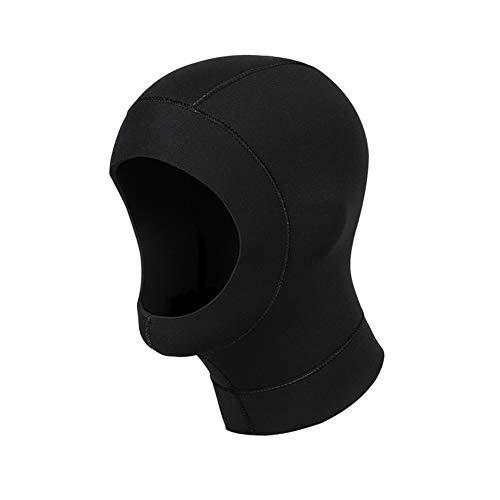 TZTED 3Mm Neopren Haube Kopfhaube Taucherhaube Neoprenhaube Schnorcheln Wassersport Tauchen Für Damen Und Herren,Black,M