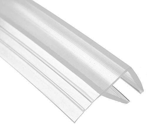 200cm F Shape Duschtür Dichtung Duschdichtung Wasserabweiser Dusche Glastür für 8mm Glasdicke
