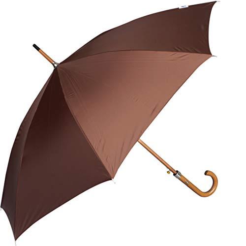 John's Umbrella Polyester Umbrella (Brown_Woodking)