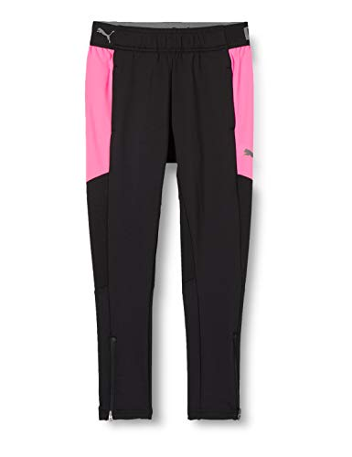 PUMA ftblNXT Pant Jr Jogginghose, Black-Luminous Pink, 152