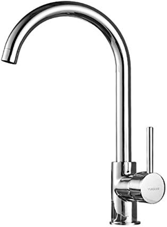 Wasserhahn Küche Kupfer hei und kalt Edelstahl Waschbecken Wschepool Waschbecken rotierenden Wasserhahn