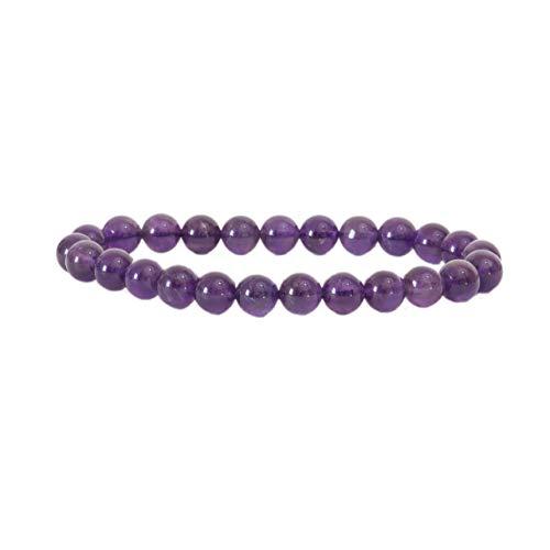 Pulsera de piedra natural   Alta gama   Joyas para hombre y parejas   6 mm   Marca francesa   Pulsera de perlas extensible   Satisfacción o acolchada.