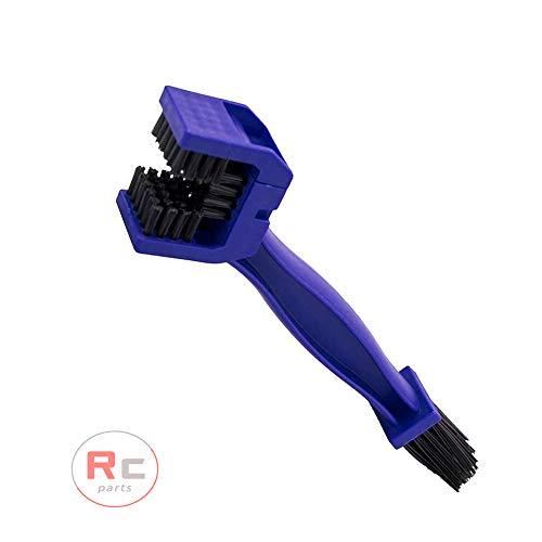 RC Parts Spazzola pulizia catena moto e bicicletta (1 unità) strumento per la pulizia di ingranaggi e catene colore blu.