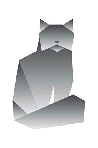 Origami Papier Katze Katzenliebhaber Geschenk Notizbuch (Taschenbuch DIN A 5 Format Liniert): Origami Kätzchen Geschenkidee Notizbuch, Notizheft, ... gerne Origami falten oder mit Papier basteln.