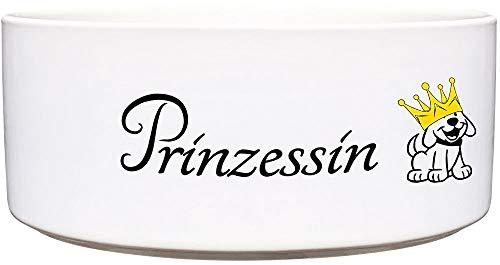 Cadouri Keramik Hundenapf » Prinzessin « Futternapf Wassernapf - 1.300 ml