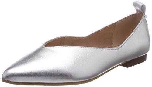Marc O'Polo Damen Ballerina 80214003005100 Geschlossene Ballerinas, Silber (Silver), 38.5 EU