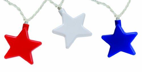Camco 42656 Lumières de fête étoilées, Rouge, Blanc et Bleu