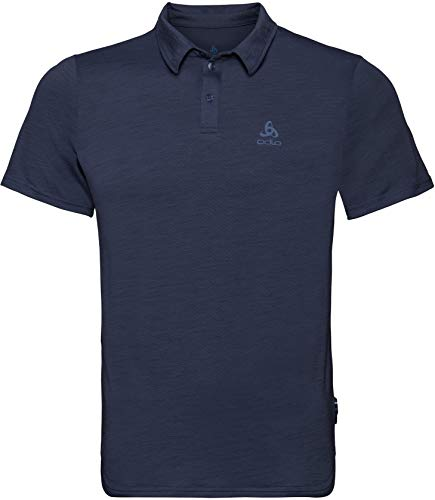Odlo Polo s/s CERAMIWOOL Shirt Homme, Diving Navy, FR : S (Taille Fabricant : S)