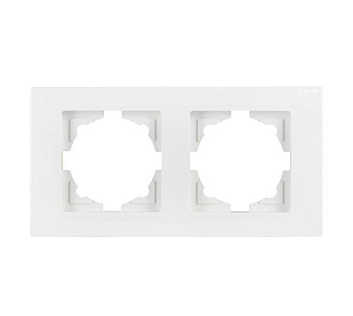 143 Gunsan Visage 3-fach Rahmen für 3 Steckdosen Schalter Dimmer Dunkelsilber