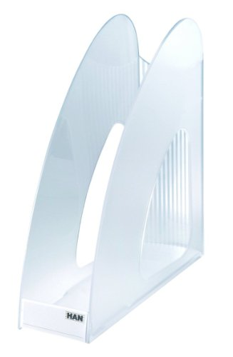 HAN Stehsammler TWIN, DIN A4/C4, standfest, modern, transluzent-klar