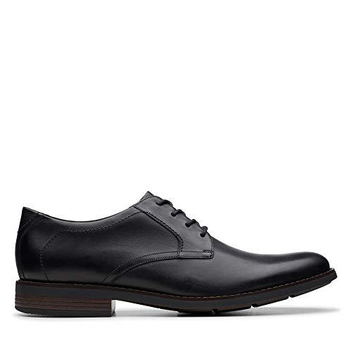 Clarks Becken Lace, Zapatos de Cordones Brogue para Hombre, Piel Negra, 43 EU