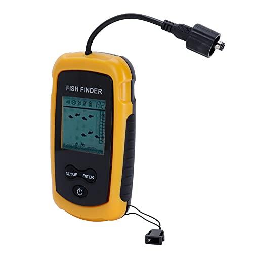 Haowecib Detector de Peces portátil, buscador de Peces de Sonar de Mano con luz de Fondo para Pesca en el mar Pesca en Hielo para Pesca en Barco Pesca en Kayak