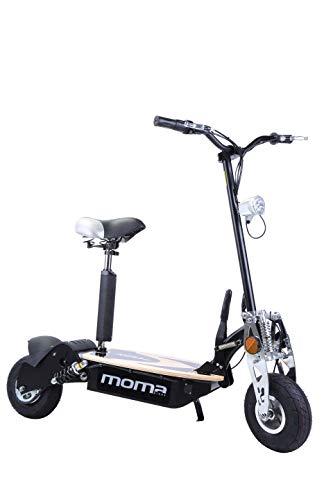 Moma Bikes 8436578262175, Monopattino Elettrico Pieghevole da 2100 W, Ruote da 10', 42 H, Autonomia 25 Km Unisex – Adulto, Nero, Taglia Unica