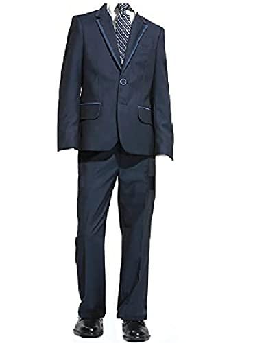 New Fashion Edel 6 teilige Kinder Anzug in edel Blau für Jungen (152)