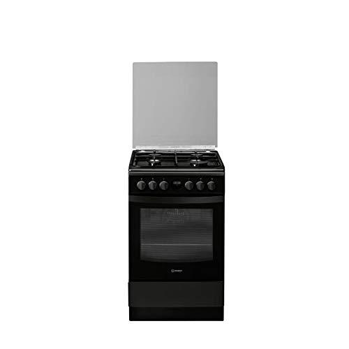 Indesit IS5G8CHB/PO - Cocina mixta de gas (4 fuegos, 7400 W, para horno térmico hidrolisis, 57 L, A, 50 x 60 cm), color negro