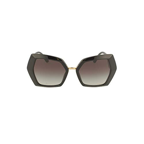 Dolce & Gabbana DG MONOGRAM DG 4377 BLACK/GREY SHADED 54/19/145 Damen Sonnenbrillen