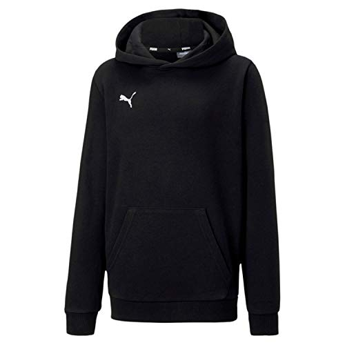 PUMA Kinder teamGOAL 23 Casuals Hoody Jr Pullover, Black, 164