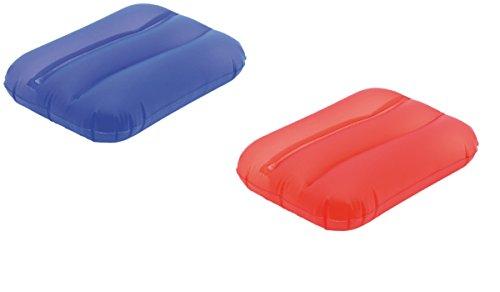 sinsey 2er Set aufblasbares Schwimmkissen - Strandkissen (rot - blau)