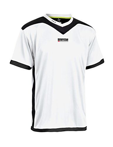 Derbystar Trikot Brillant Kurz, 116/128, weiß schwarz, 6000128120