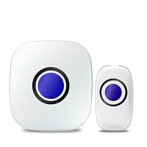 Cuby ワイヤレスチャイム インターホン チャイム センサー 呼び鈴玄関 防水防塵 チャイム38種類のチャイム音選択可 最高183Mの無線範囲 受信機1個 送信機1個