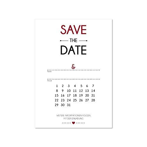 15 Postkarten Save the Date I dv_155 I DIN A6 I Set Hochzeit Wedding Einladungs-Karten Countdown
