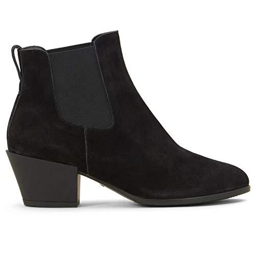 Hogan Texano Damen Stiefel schwarz Wildleder - HXW4010W890BYEB999, Schwarz - Schwarz - Größe: 38 EU