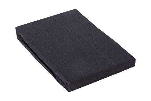 Zané Secrets Comfort Jersey Spannbettlaken - 100% Baumwolle - in vielen Farben und Größen ÖKOTEX Standard 100 Schwarz 90x200 cm bis 100x200 cm
