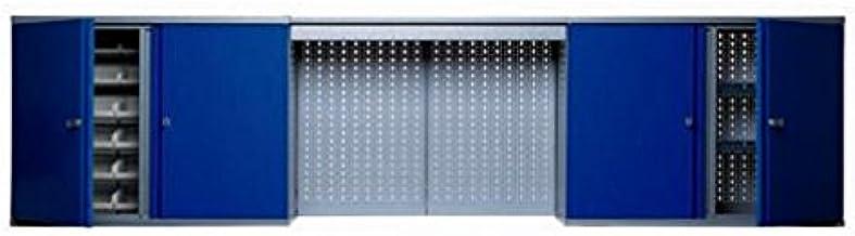 Promo Kupper – Armoire murale 4 portes 4 étagères et 36 boites de rangement bleu marine