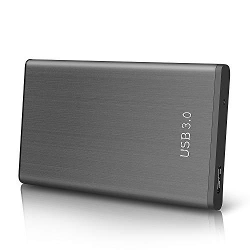 Disco Duro Externo 2tb USB3.0 Disco Duro Externo para Mac, PC, Desktop, Laptop, MacBook, Xbox One (2tb, Negro)