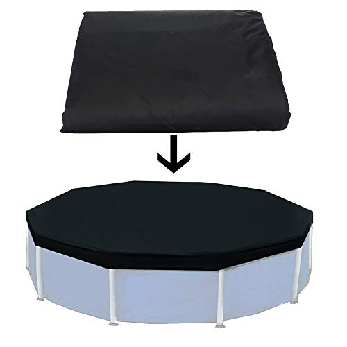 POHOVE Swimming Pool Cover 12ft Above Ground Strong Protective Durable Garden UV...