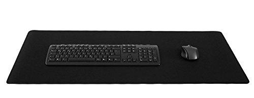 Silent Monsters muismat maat XXL (900 x 400 mm) muismat groot design: zwart - gestikte rand geschikt voor kantoor en gaming-muis en toetsenbord