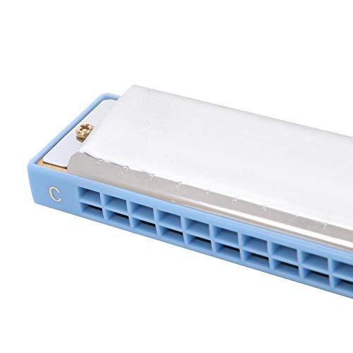 Órgano bucal de armónica ecológico, para cualquier entusiasta de la armónica, para principiantes con estuche de transporte y paño(blue)