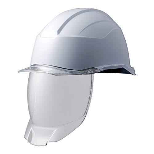 ミドリ安全 ヘルメット 作業用 PC製 シールド面 クリアバイザー SC21PCLS RA3 KP付 侍II ホワイト クリア