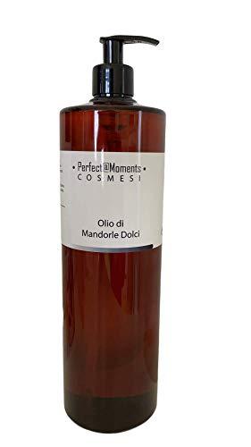 Olio Mandorle Dolci Puro 100% spremitura a freddo - Olio Massaggio - Ideale per ogni tipo di pelle - 1 litro 1000 ml 1 l massaggio