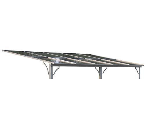 GRASEKAMP Qualität seit 1972 Ersatzdach Terrassendach Hardtop Anbau Pergola 3x4,5m Doppelstegplatten Polycarbonat Carport