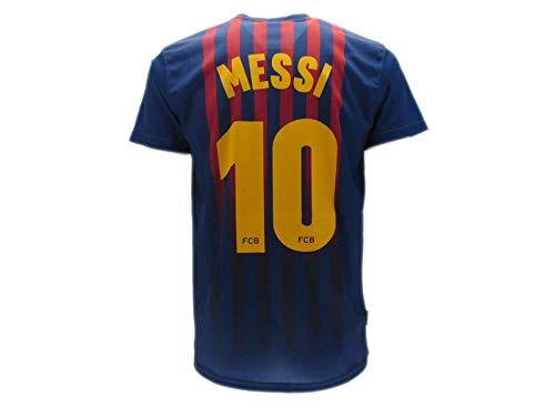 T-Shirt Fußball Lionel Leo Messi 10 Barcelona Barça Home Saison 2018-2019 Replica OFFIZIELLE mit Lizenz - Alle Größen Kinder und Erwachsene (XXL ExtraExtra Large)